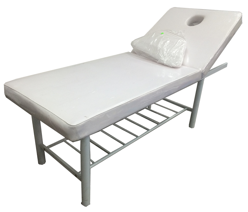 Massage Bed with Chrome Legs
